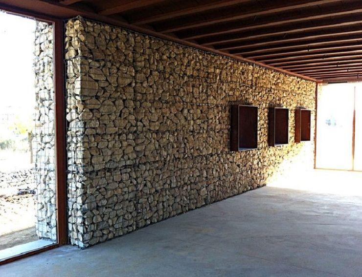 gabion wall Arquitectura Pinterest Arquitectura