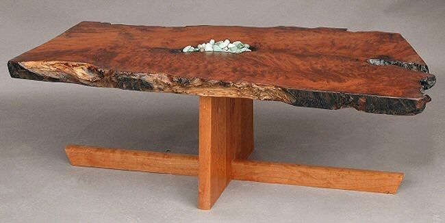 Live edge coffee table redwood Products I Love