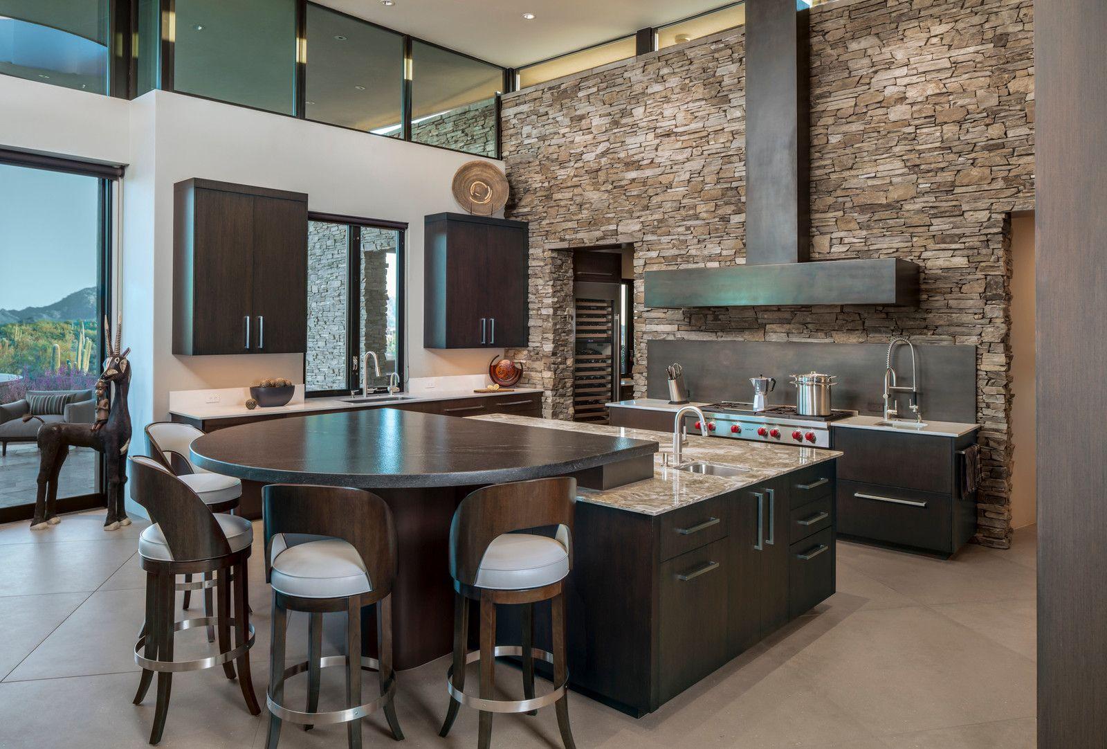 Large trendy ushaped porcelain floor and beige floor kitchen photo