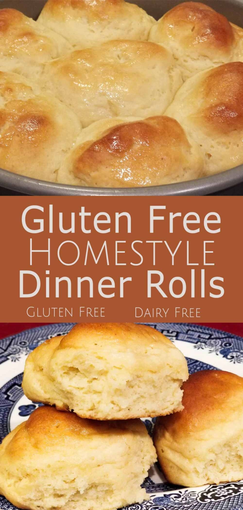 These Gluten Free Homestyle Dinner Rolls look, taste, and smell just as good as their wheat based counterparts! They are soft, fluffy and delicious! #Bread #Dinner #Fluffy #GlutenFree #Homestyle #Roll #Side