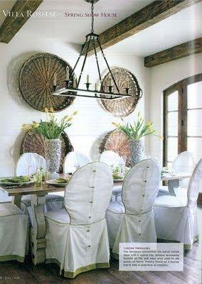 Dining Chair Slipcovers · European Grape Gathering Baskets!