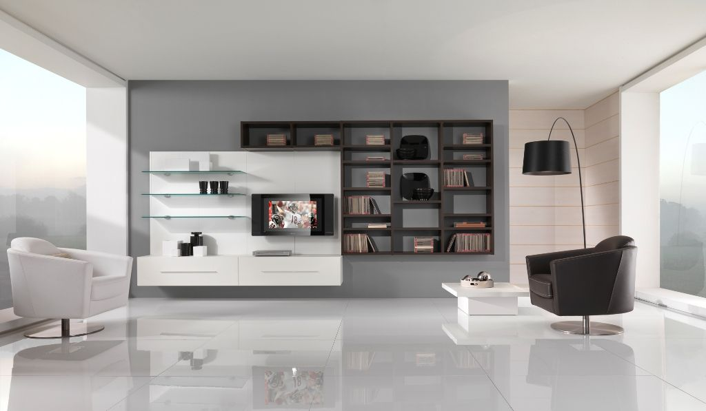 modern living room furniture modern black and white furniture for living room from giessegi - White Sitting Room Furniture