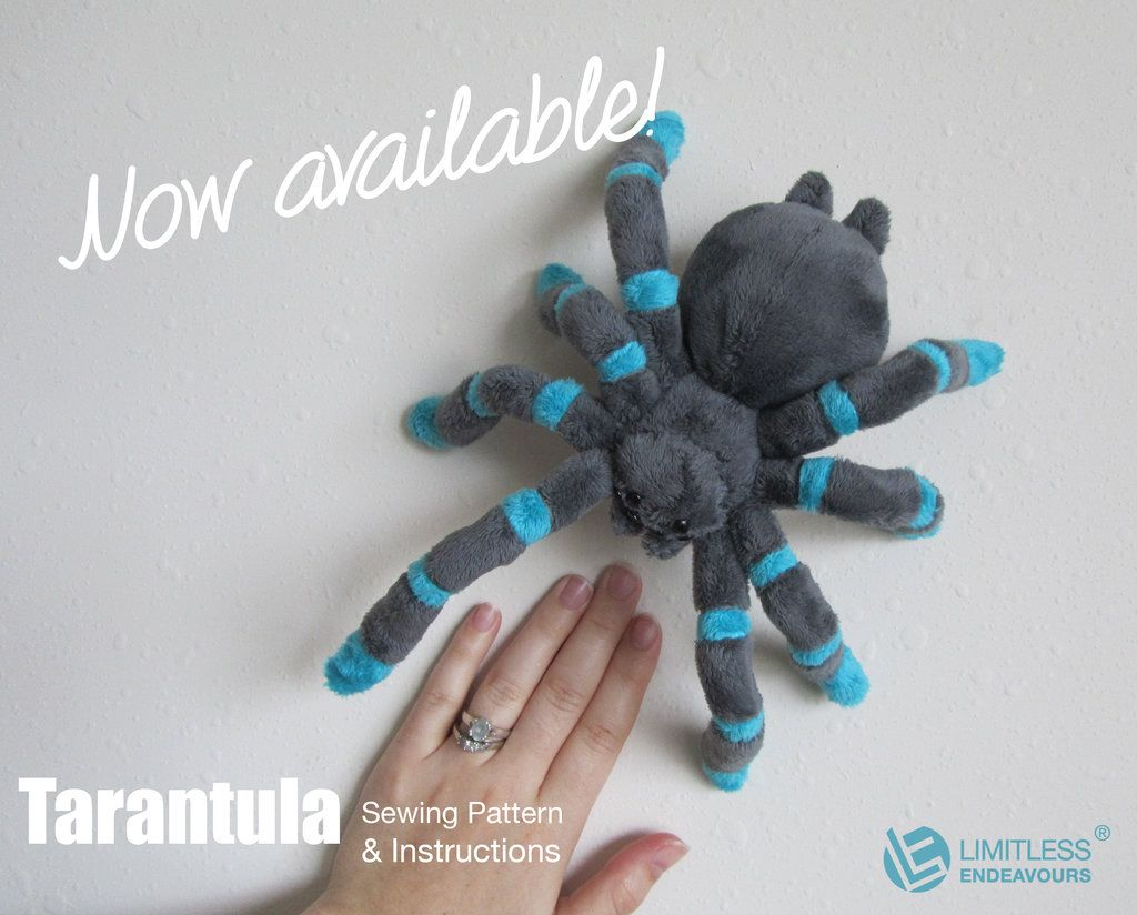 Tarantula Plush Sewing Pattern Available By