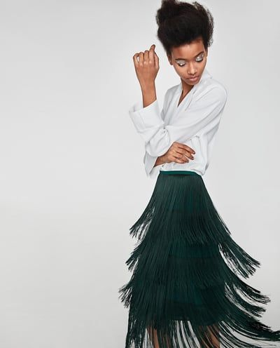 a9a33cfc4c Image 6 of LONG FRINGED SKIRT from Zara | 很棒的衣服 | Skirts ...