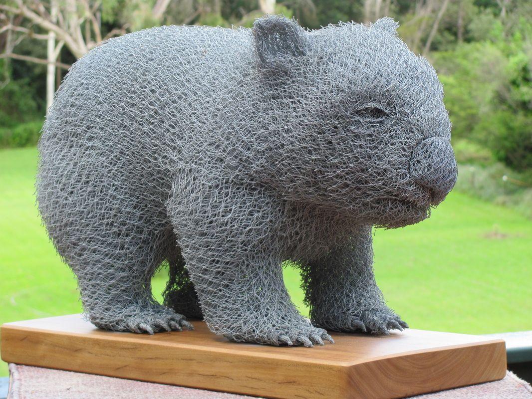 Wombat out of chicken wire by Ivan Lovatt   Sculpture   Pinterest ...