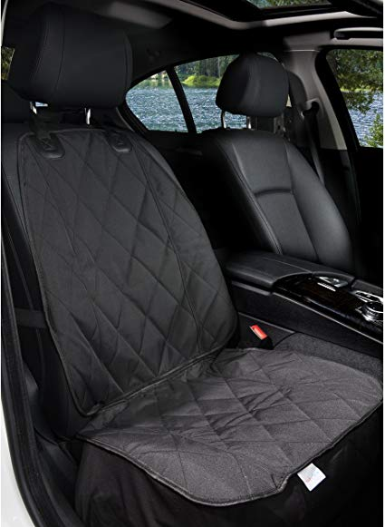 Amazon Com Barksbar Pet Front Seat Cover For Cars Black Waterproof Nonslip Backing With Anchors Quilted Best Car Seat Covers Best Car Seats Car Seats