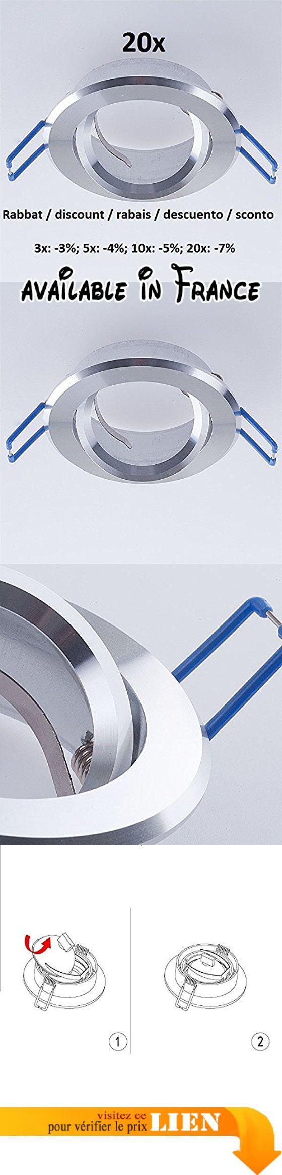 B00PWA40E0 20x Fixation de spot encastrable Spot  encastrer