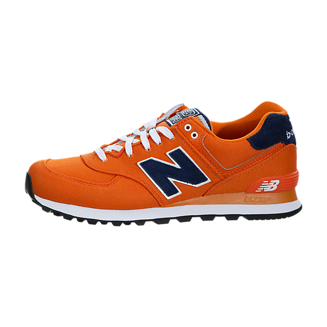 timeless design ca678 8420f New Balance 574 (Pique Polo) Trainers Orange Navy | Men's ...