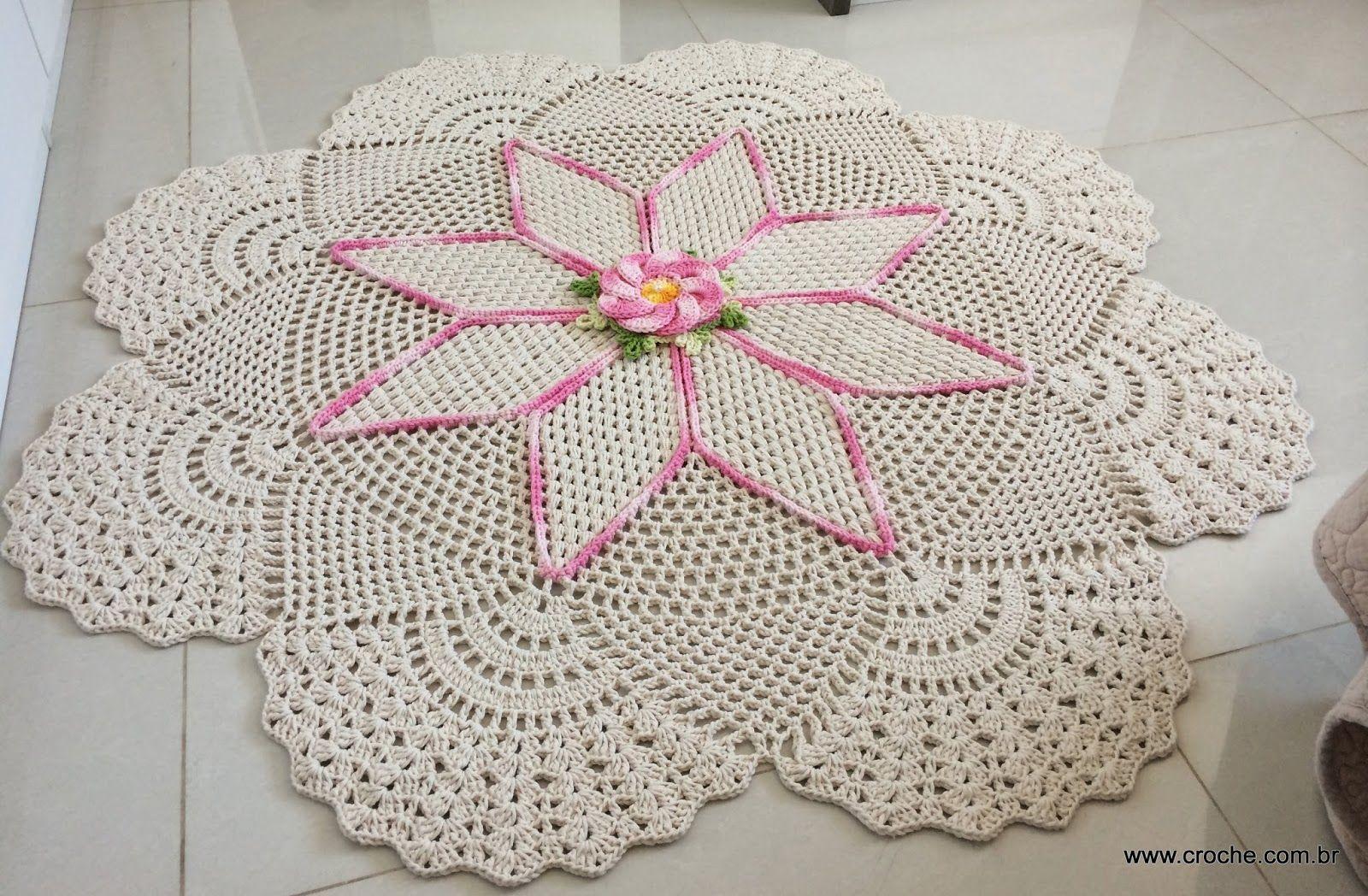 Meus Trabalhos Croch Pinterest -> Tapete De Croche Redondo Passo A Passo