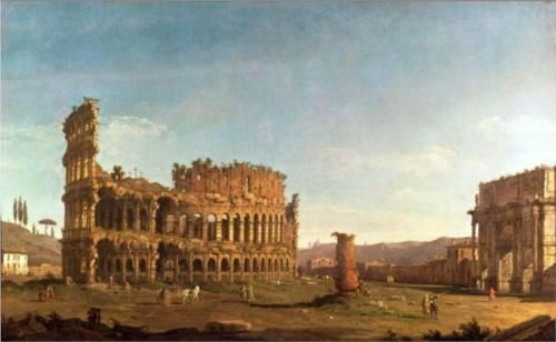 Colosseum and Arch of Constantine (Rome) - Bernardo Bellotto