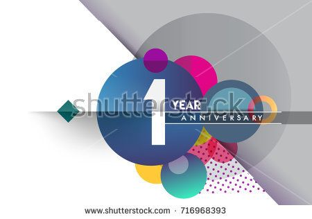 St year anniversary logo vector design birthday celebration with