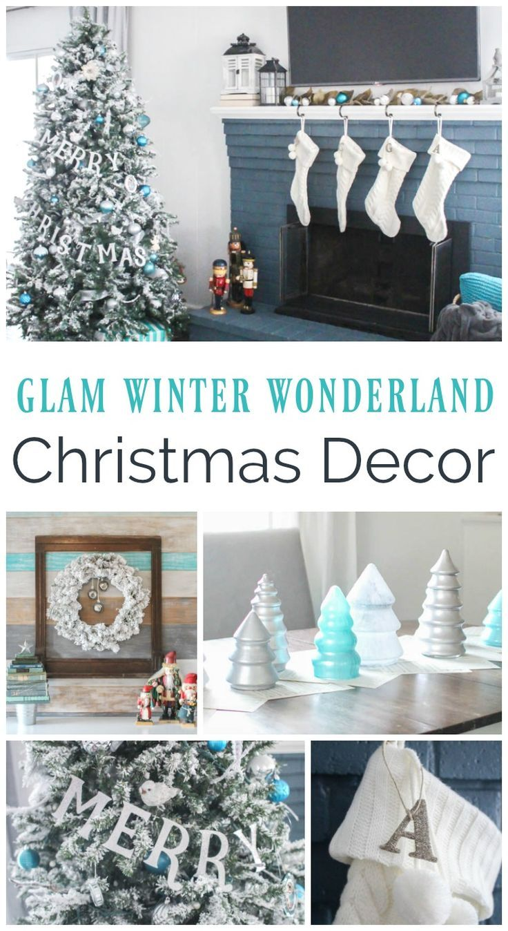 Blue and White Christmas Home Tour | Christmas decor, Snow and Holidays
