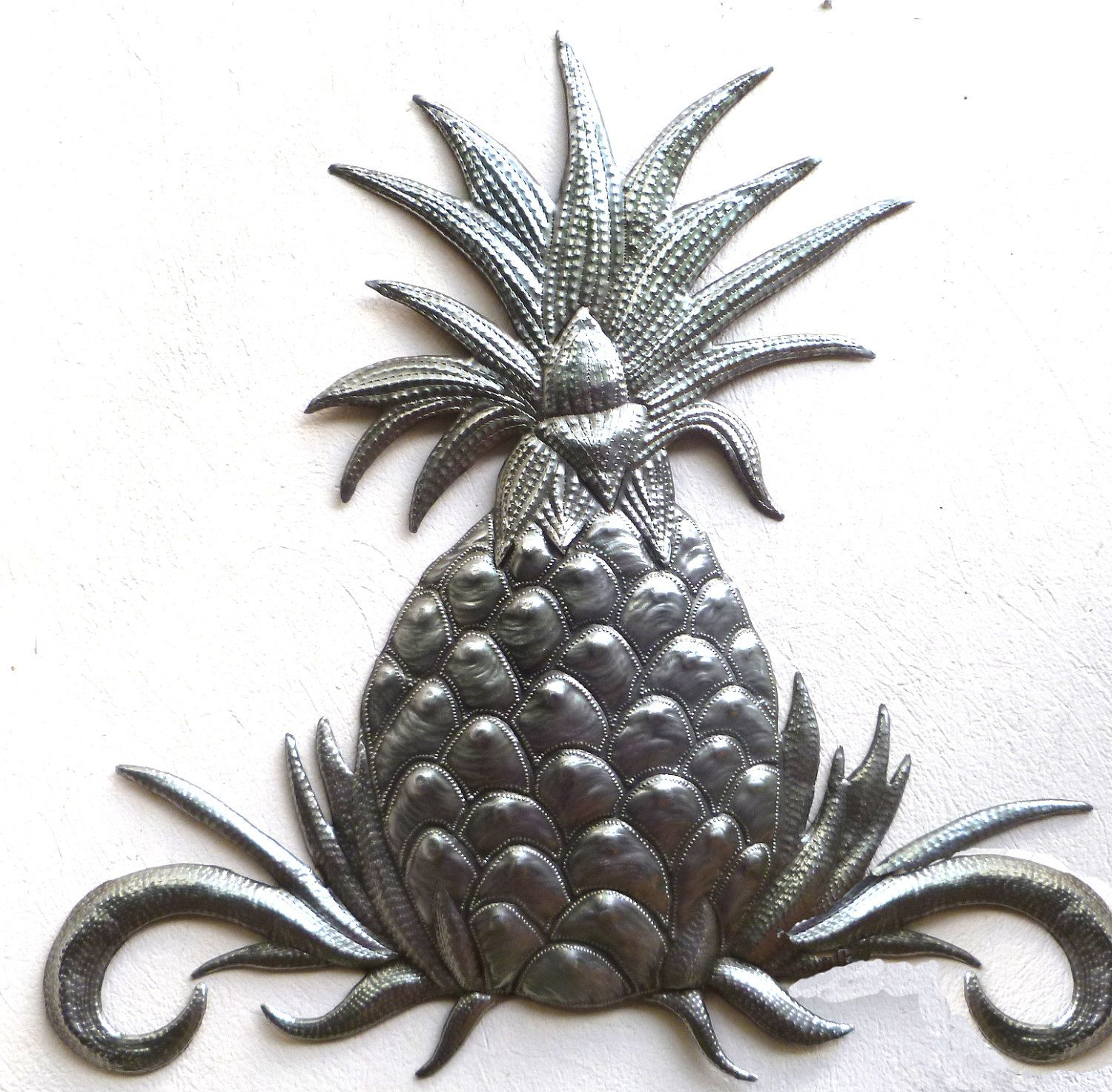 Metal Wall Decor Pineapple Wall Art Haitian Art Metal Wall