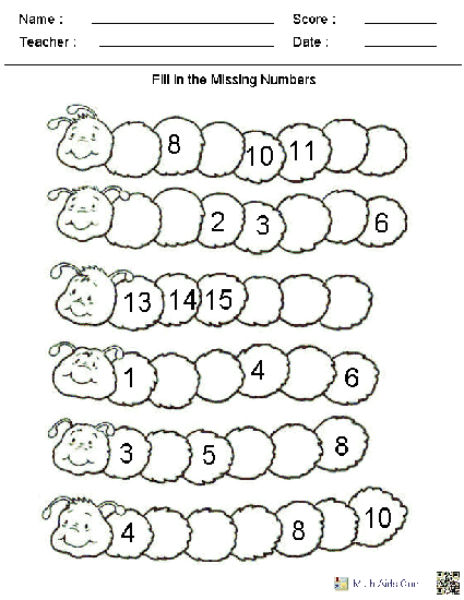Fill In The Missing Numbers Worksheets Many Other Worksheets Too Kindergarten Math Free Kindergarten Math Worksheets Free Numbers Kindergarten