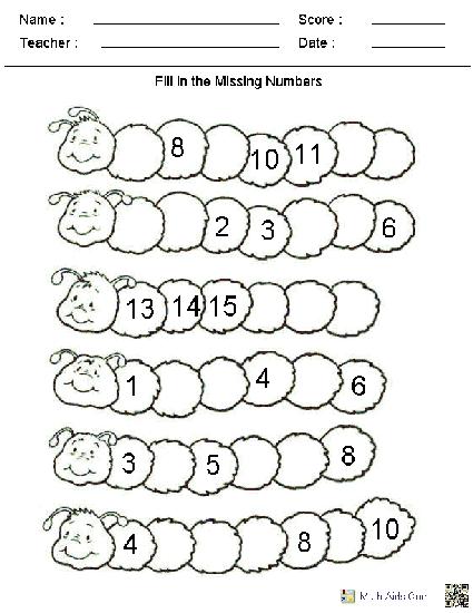 Kindergarten Math Worksheets- super amazing. Asks a couple