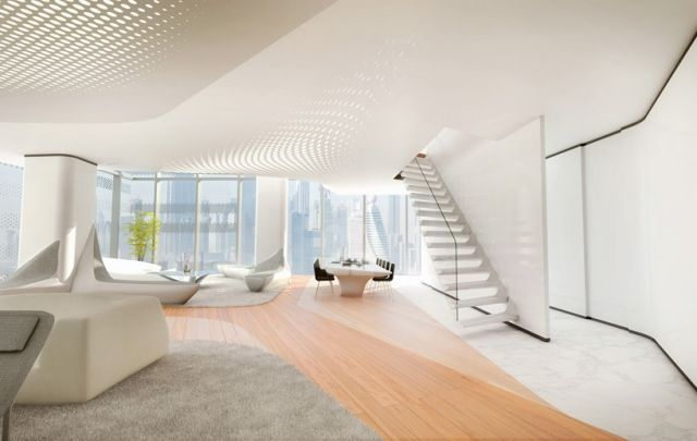 Möbeldesign futuristische Linienführung funktional-zaha hadid dubai ...