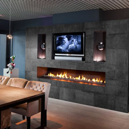 36 in. Wall Mount Electric Fireplace Heater in Black with Tempered Glass,  Pebbles,