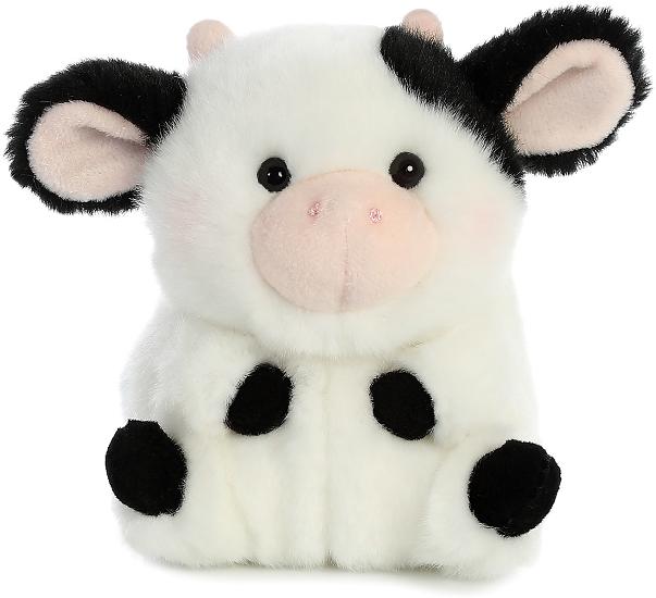 Daisy Cow Rolly Pets Stuffed Animal By Aurora World Front Cute Icons Cute Stuffed Animals Cute Plush
