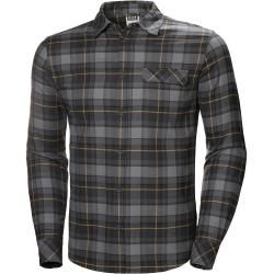 Photo of Helly Hansen Men's Classic Check Long Sleeve Shirt Yellow Shellyhansen.com