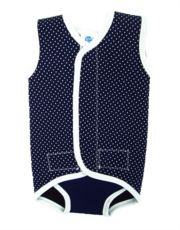 Splash About Baby Wrap - Navy Dots