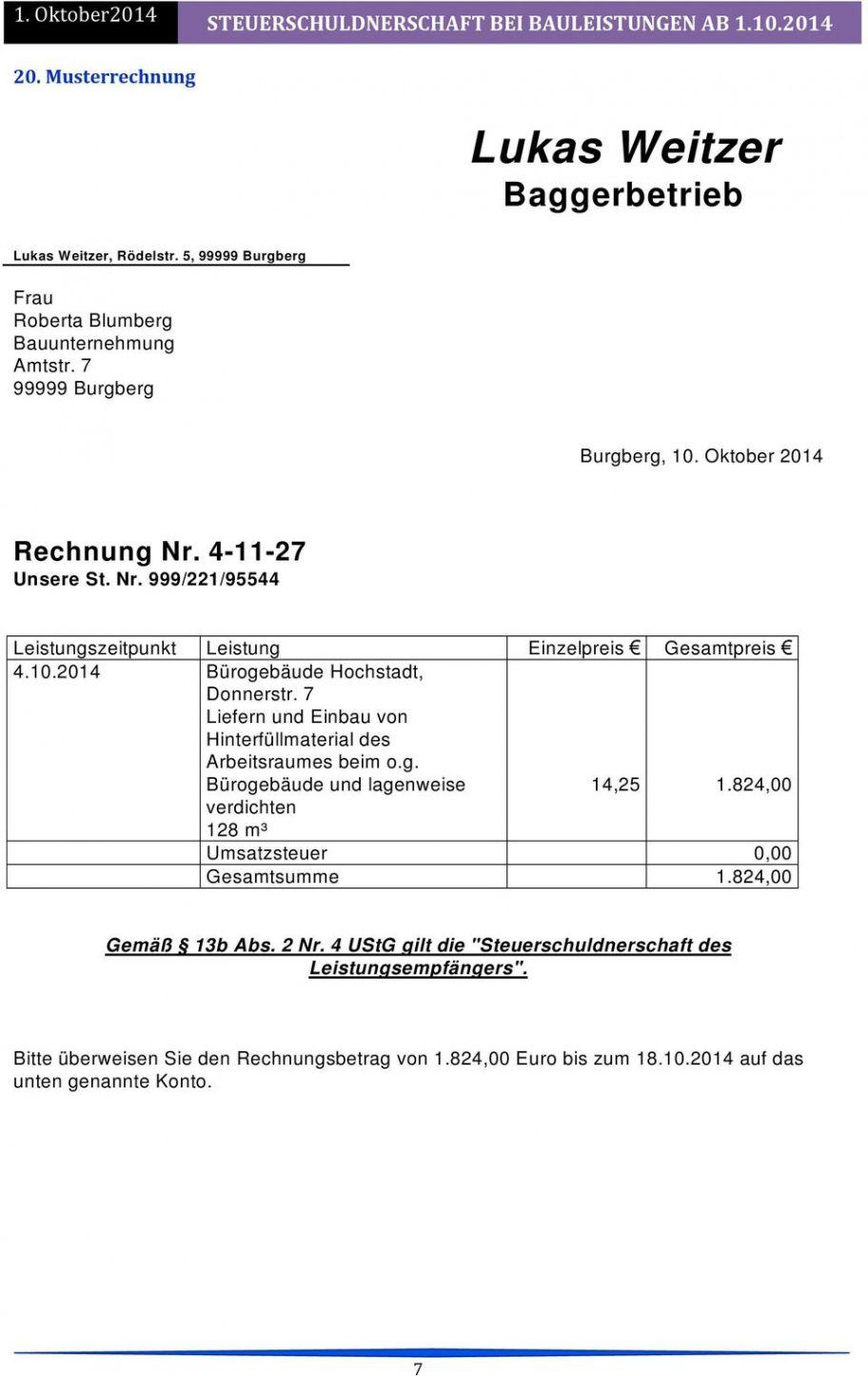 Scrollen Unsere Druckbar Von Vorlage Rechnung Nach 13b In 2020 Rechnung Vorlage Rechnungsvorlage Vorlagen