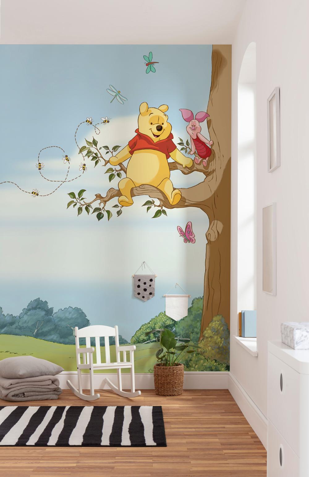 Papier peint enfant Disney Winnie l'Ourson Arbre   Papier peint ...