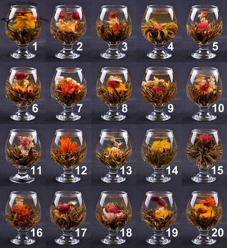 1250 20 pcs handmade herbal tea blooming flower tea