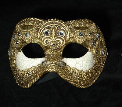Colombina color oro SA11 - Maschera veneziana realizzata a mano in ...