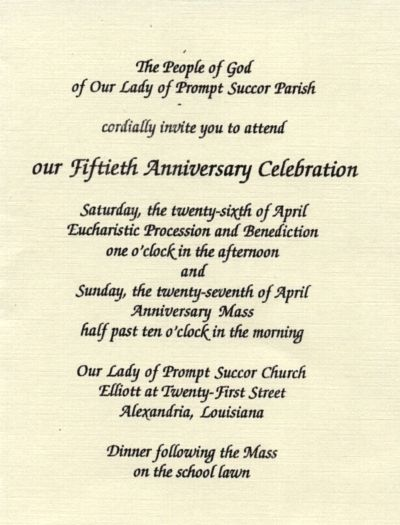 Church Anniversary Invitation