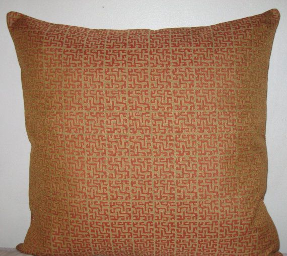 Greek Key Decorative Pillow Cover40x40 In High End Woven Linen Fascinating High End Decorative Pillows
