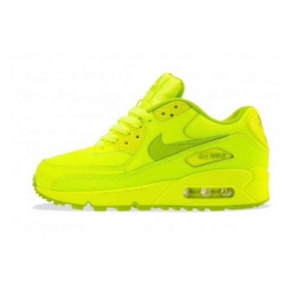 nike air max neon yellow