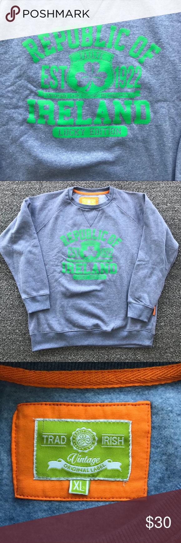 Republic Of Ireland Sweatshirt Sweatshirts Clothes Design Vintage Tops