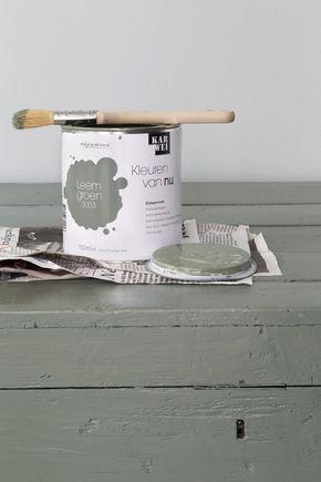 Wonderlijk KARWEI | Met deze leemgroene verf geef je je houten tafel een OQ-33