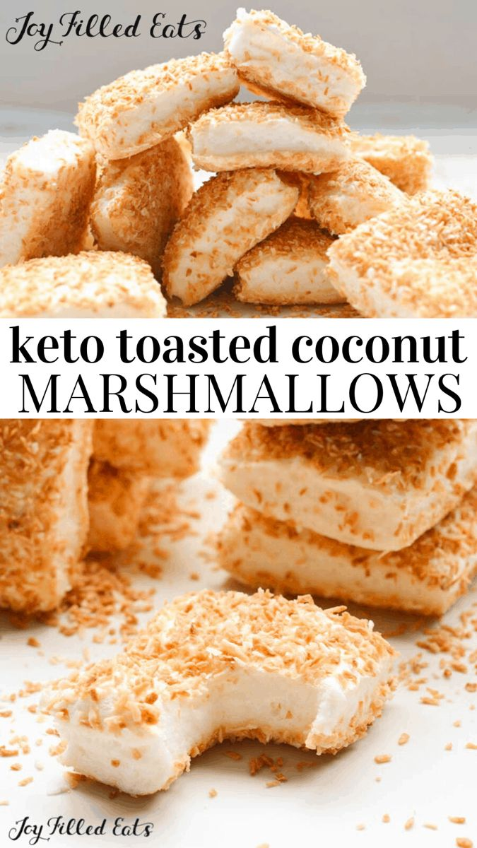 Sugar Free Marshmallows With Toasted Coconut Keto Low Carb