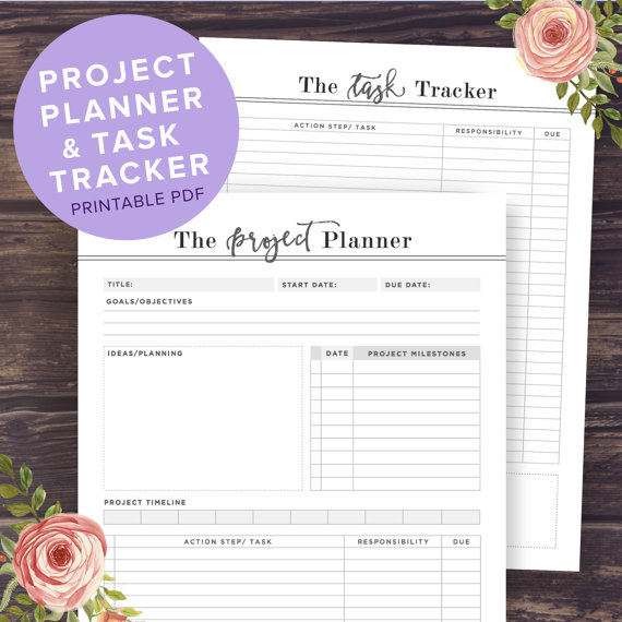 project planner printable productivity planner task tracker