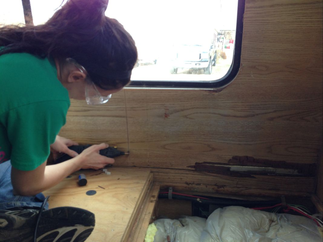 How To Replace Rv Paneling Rv Remodel Nomadic Powers