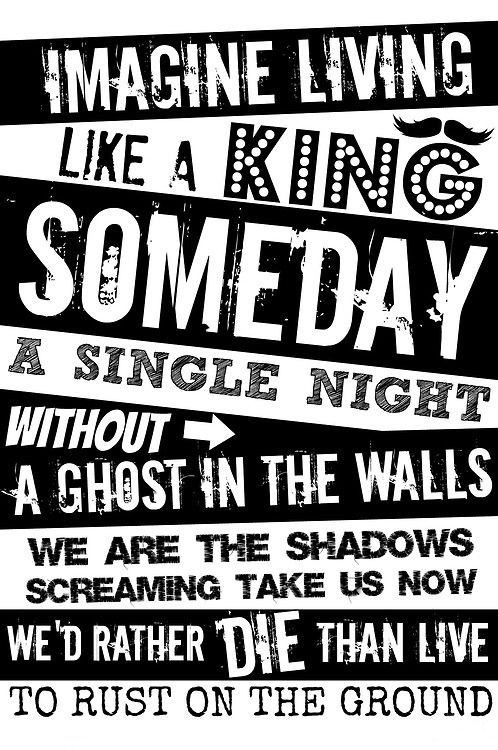 King For A Day By Peirce The Veil And Kellin Quinn Pierce The Veil Spruche Motivation Zitate