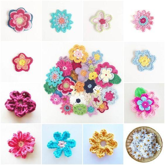 Free ebook of tons of crochet flower patterns. | tea cozy stuff ...