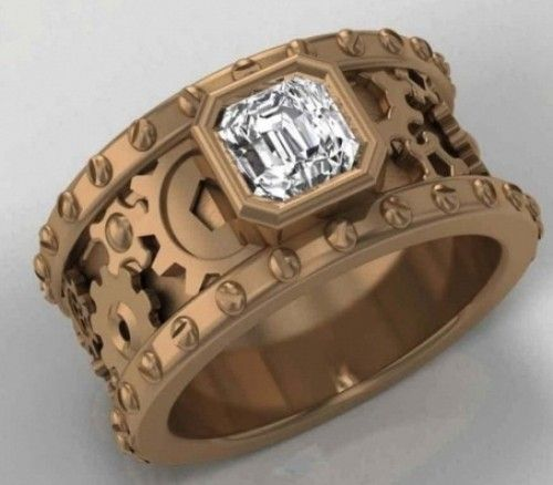 romantic steampunk wedding ring wwwmadampaloozaemporiumcom wwwfacebookcommadampalooza - Steampunk Wedding Rings