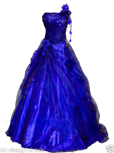 Faironly Flower One Shoulder Organza Prom Gown Evening Dress Size6 8 10 12 14 16