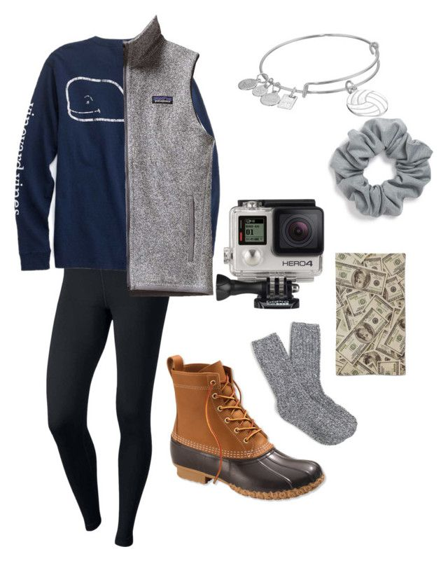 """""""Untitled #6"""" by ella-is-awesome on Polyvore featuring NIKE, Patagonia, J.Crew, L.L.Bean, Alex and Ani, GoPro and Natasha Couture"""