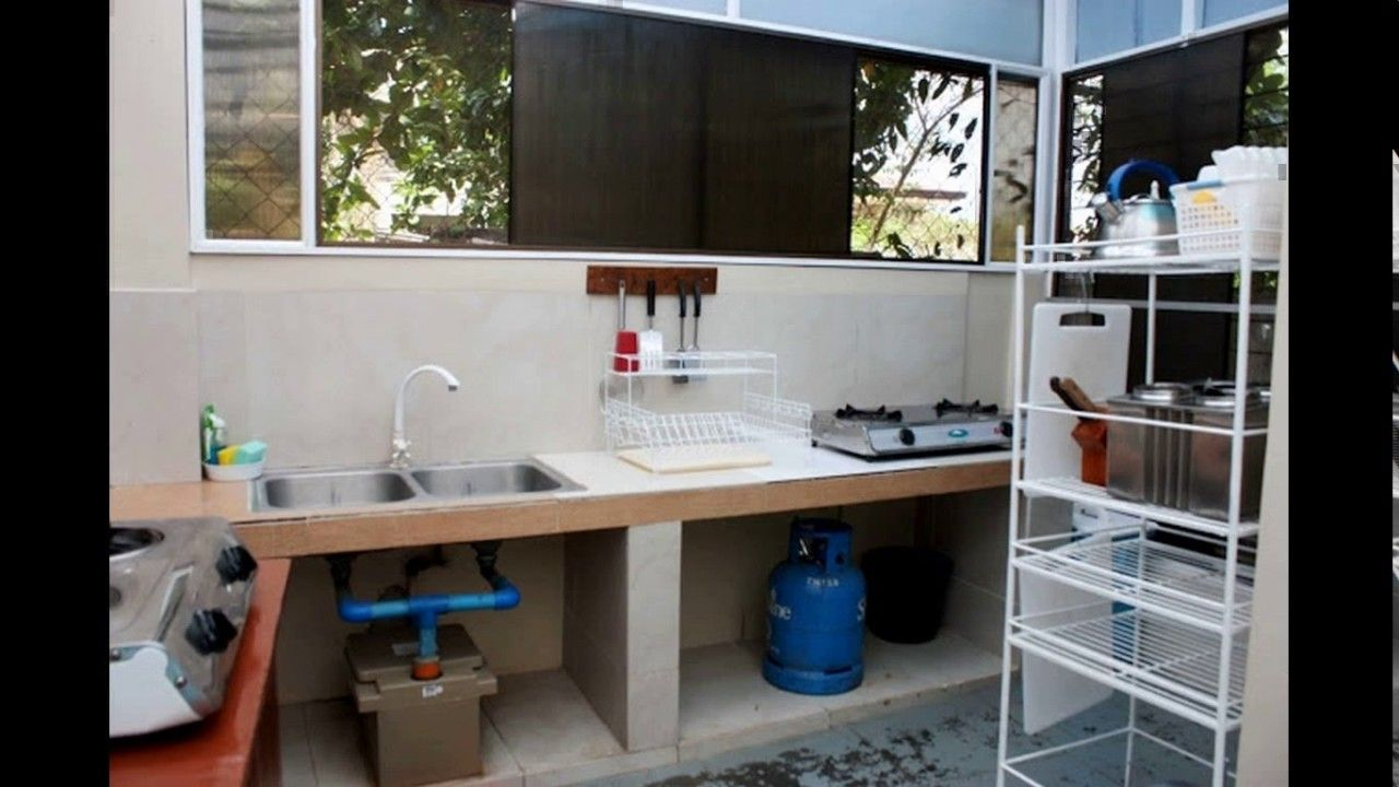 Small Space Outdoor Dirty Kitchen Design Philippines