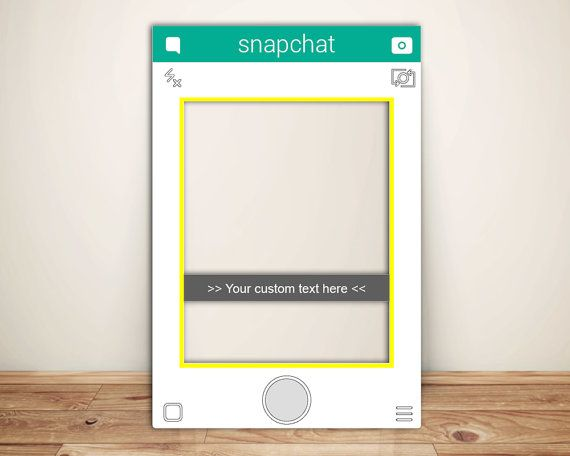 snapchat frame custom designed photo booth prop digital file only photo booth template. Black Bedroom Furniture Sets. Home Design Ideas