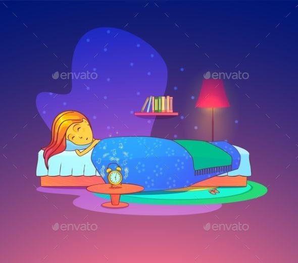 Girl Or Woman Sleeping Dreaming In Bed Sleeping In Bed Sleep Logo Icons