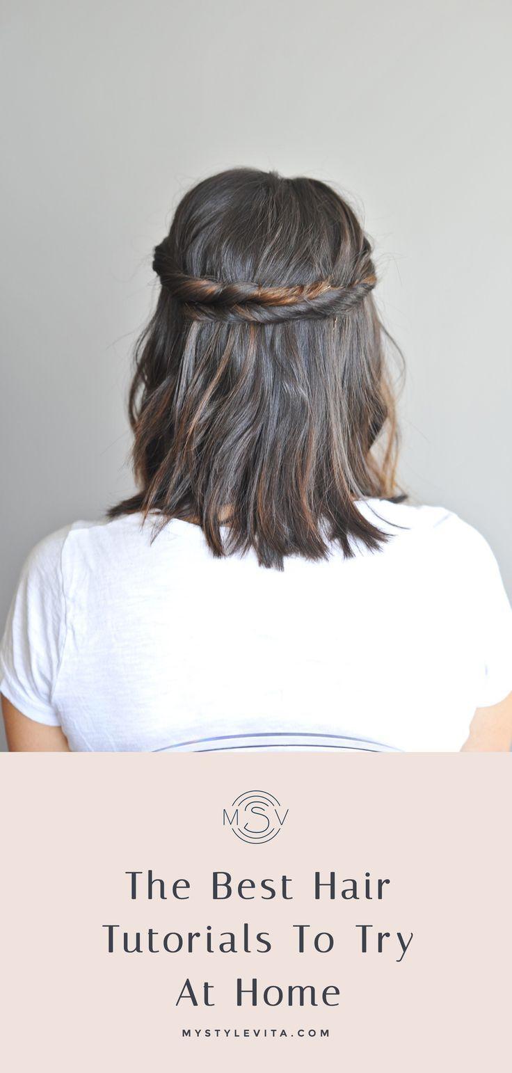 Easy hair tutorials to try at home short hair tutorials long hair