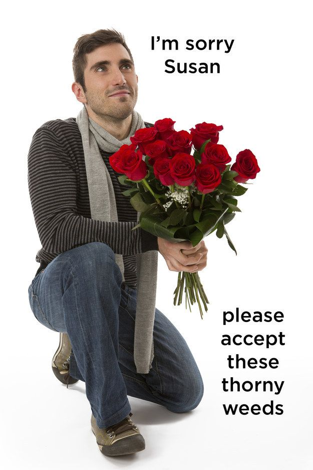 when a guy gives you flowers
