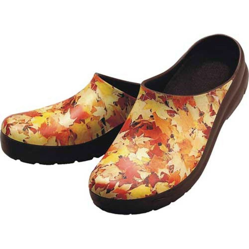 Jollys Autumn Leaves Picture Clogs Womens Sz 10 40 All