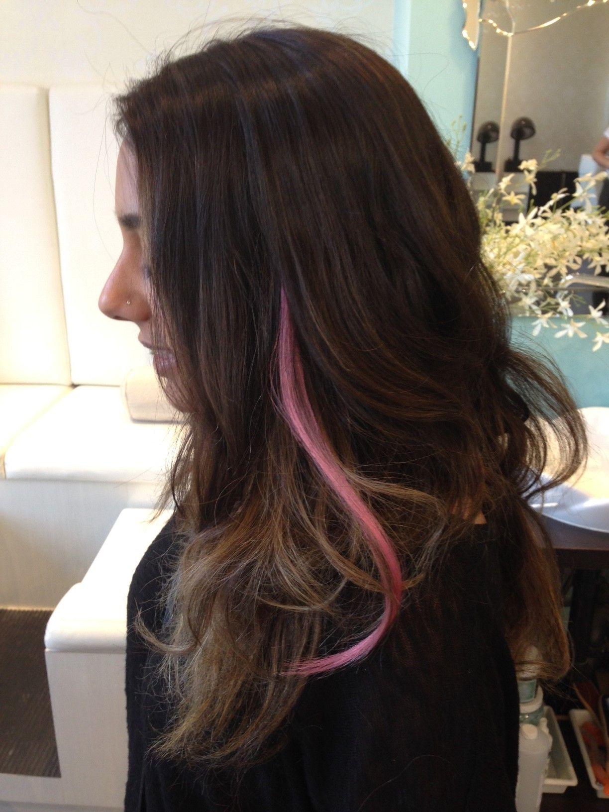 Baby Pink Streak By So Cap Originals Hair Extensions Hair Pink Streaks Long Hair Styles