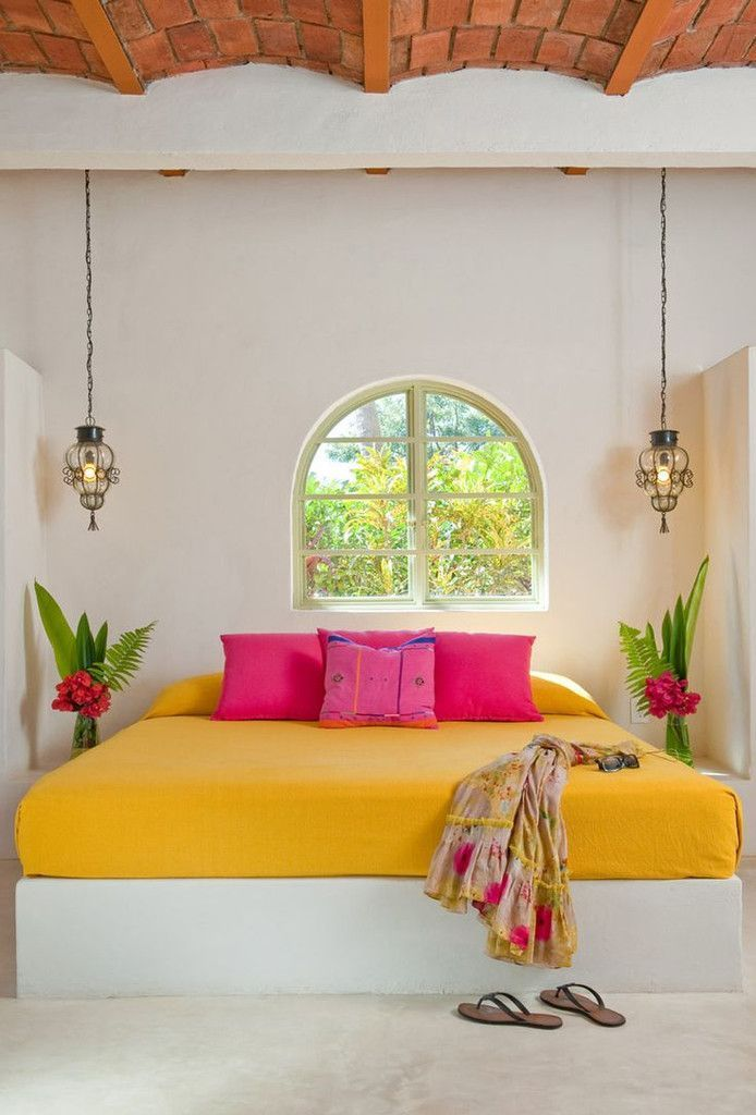 Mexican Decor Styles We Love | Pinterest | Decor Styles, Pink Pillows And  Hanging Lights