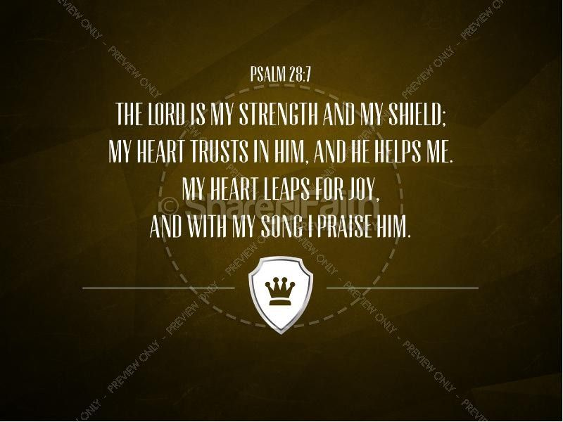Lord My Shield Psalm 28 Church PowerPoint Sermon | Scripture